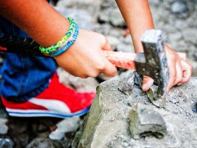 Fossilienklopfen in der Fränkischen Schweiz